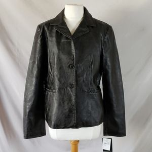 New Bagatelle Garment Dyed Faux Leather Jacket